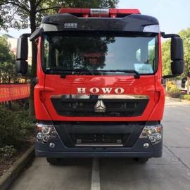 国五重汽T5G水罐消防车(5吨)