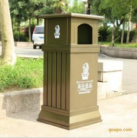 曲靖耐用木质垃圾桶,CAD来图定做 塑木钢芯垃圾桶【 正品行货】