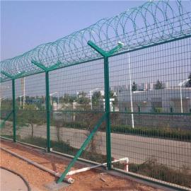 刀片刺绳滚笼|机场刺丝防护网|监狱防攀爬围网