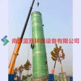 玻璃钢一体化预制泵站 玻璃钢泵站 厂家直销 粉碎格栅 排污泵