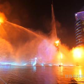 喷泉水景 彩色火泉 火焰喷泉 喷泉设计