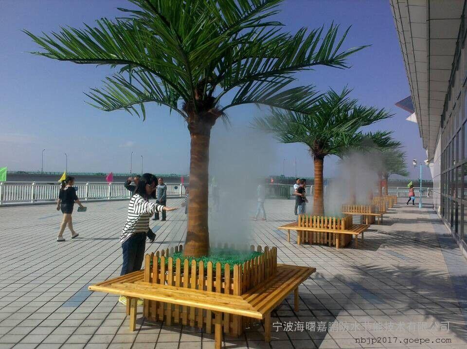 北京户外喷雾降温-景区喷雾降温工程-嘉鹏高压喷雾降温系统