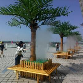 儋州户外喷雾降温-景区喷雾降温工程-嘉鹏高压喷雾降温系统