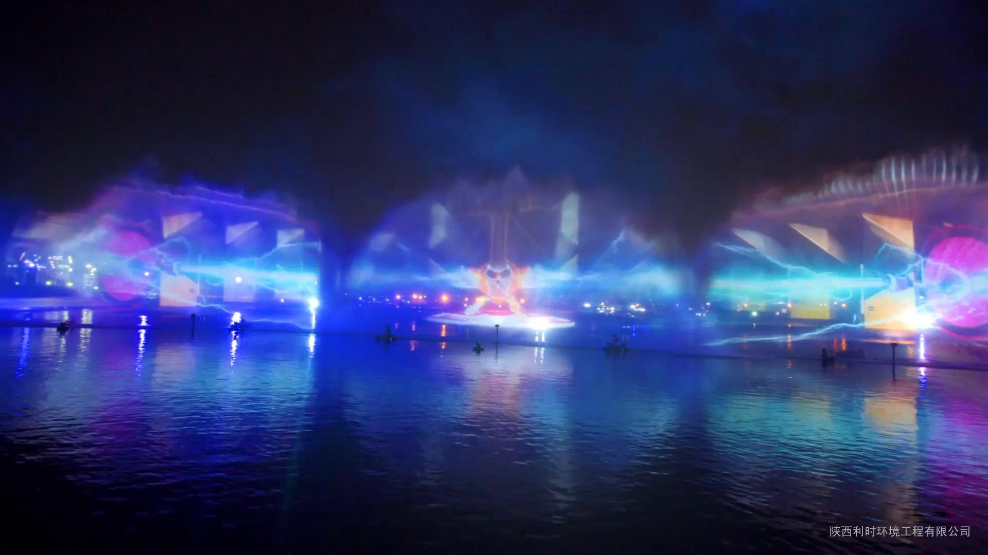 水幕电影 水景设计 激光水幕电影 水景施工 喷泉公司图片