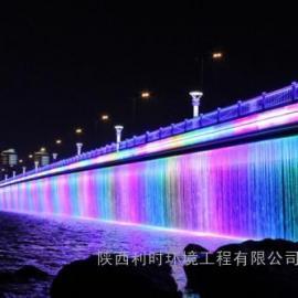 喷泉设计 桥面水幕 音桥梁水幕 桥面水帘