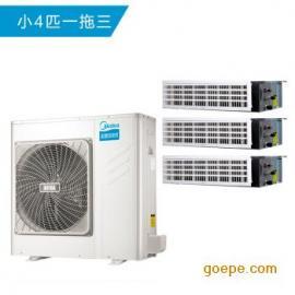 美的家用中央空调 一拖三变频一级能效 多联风管机空调 小4匹