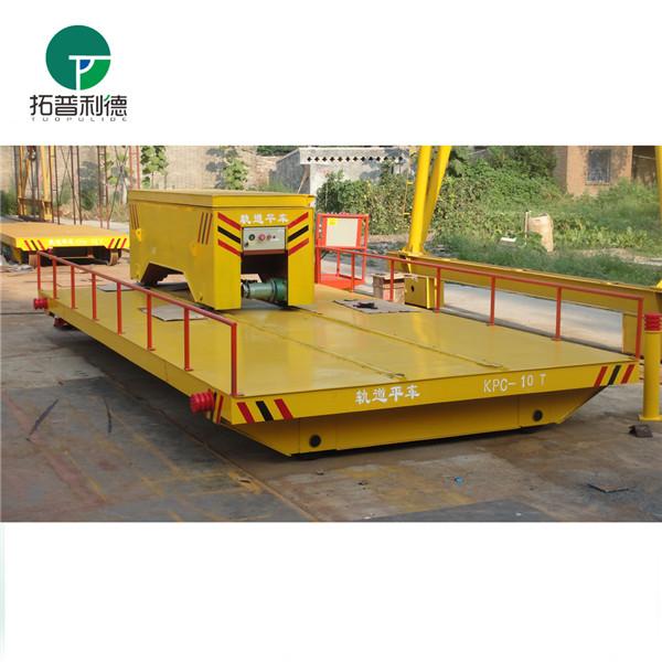 供应新利德生产造纸厂原材料转运输的轨道电动平车