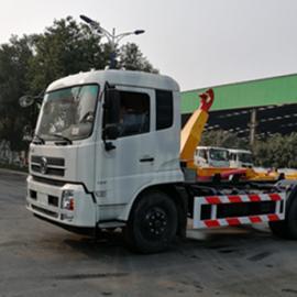 东风天锦折叠式车厢可卸式垃圾车