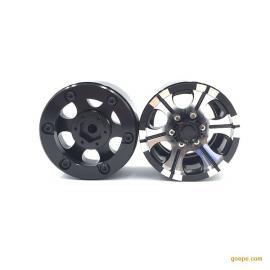 1.9寸攀爬胎金属轮毂 金属攀爬轮毂 SCX10 D90金属夹片轮毂