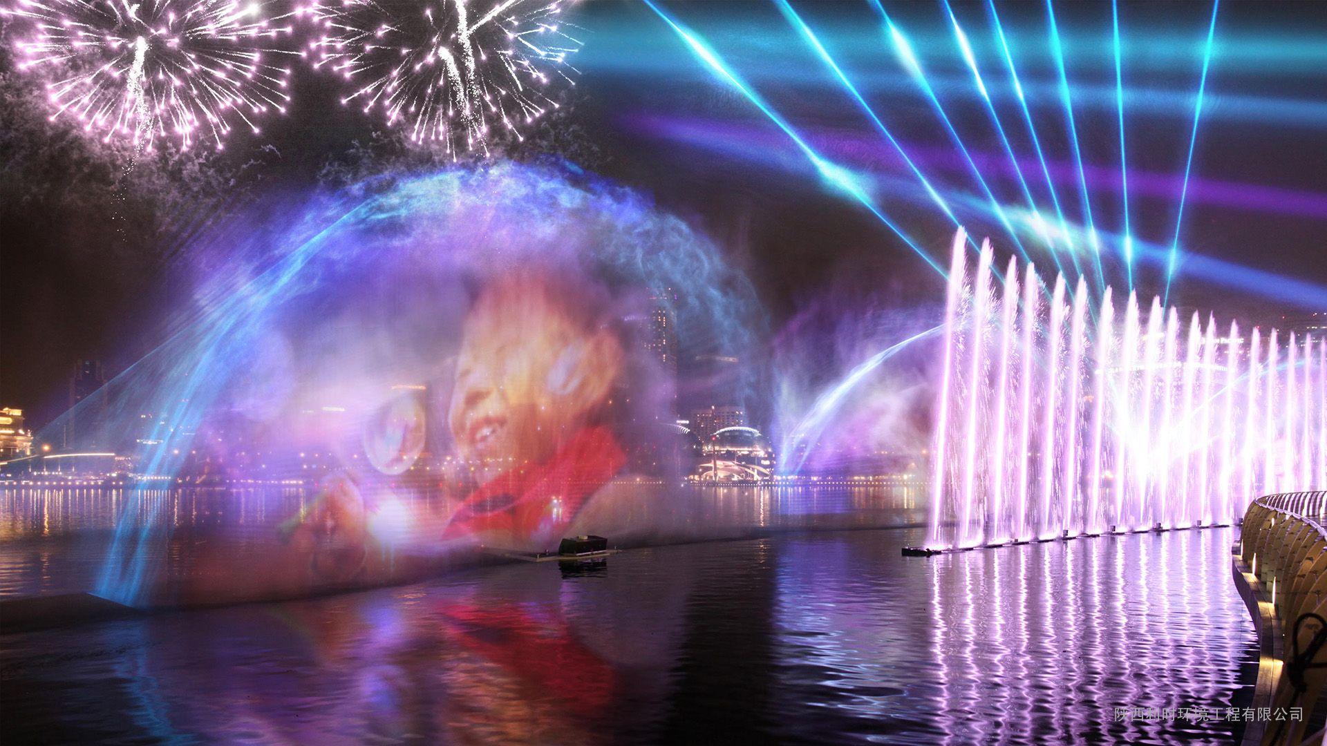 激光水幕 水幕电影 水幕电影设计 水景设计