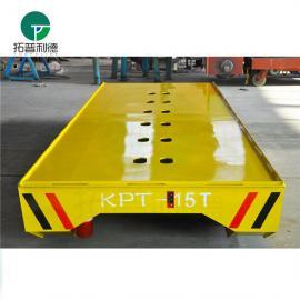 钢渣轨道车/超低台面电动平板过跨车/重型模具地轨搬运车