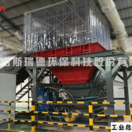 斯瑞德工业危废破碎系统,工业铁桶破碎机TDH1016