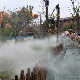 水上乐园景观造雾-户外喷雾降温工程-嘉鹏雾森造景观冷雾工程