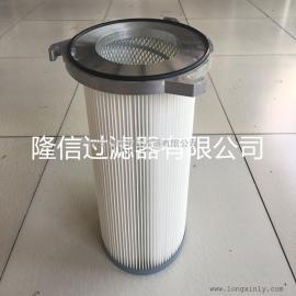 厂家批发 防静电滤筒 三耳铝盖粉尘滤筒325*1200