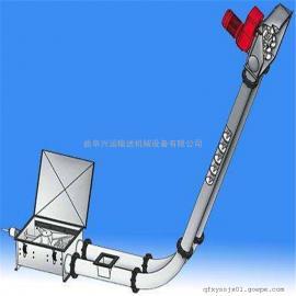 拐弯式盘片推动管链提升机耐高温 石灰粉盘链提升机