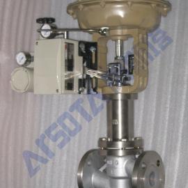 气动波纹管衬氟调节阀 气动衬氟波纹管调节阀