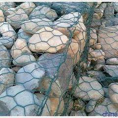 河道铅铝合金覆塑石笼网 边坡防格宾网