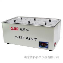 电热恒温水浴锅*双列六孔HH-S6恒温水浴锅