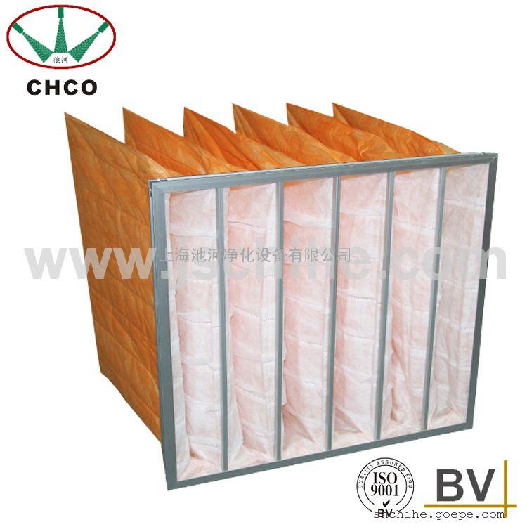 厂家供应 无纺布中效袋式过滤器 空调袋式过滤器F6级袋式过滤网