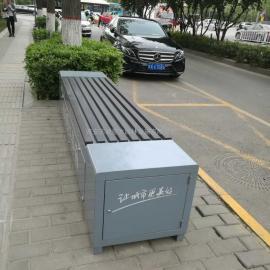 保洁工具柜 环卫工具箱座椅 郑州太原衣物回收箱厂西安志诚塑木