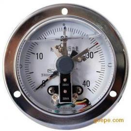轴向带边耐震电接点压力表