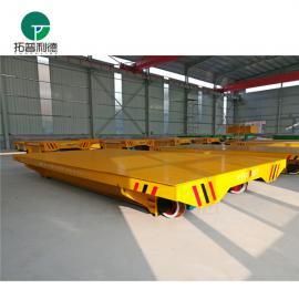 新利德机械转运输钢板型钢材料的遥控式轨道电动平车搬运车