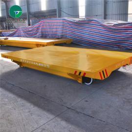 炼钢厂渣包配套轨道平板车厂家 转运包装材料轨道台车