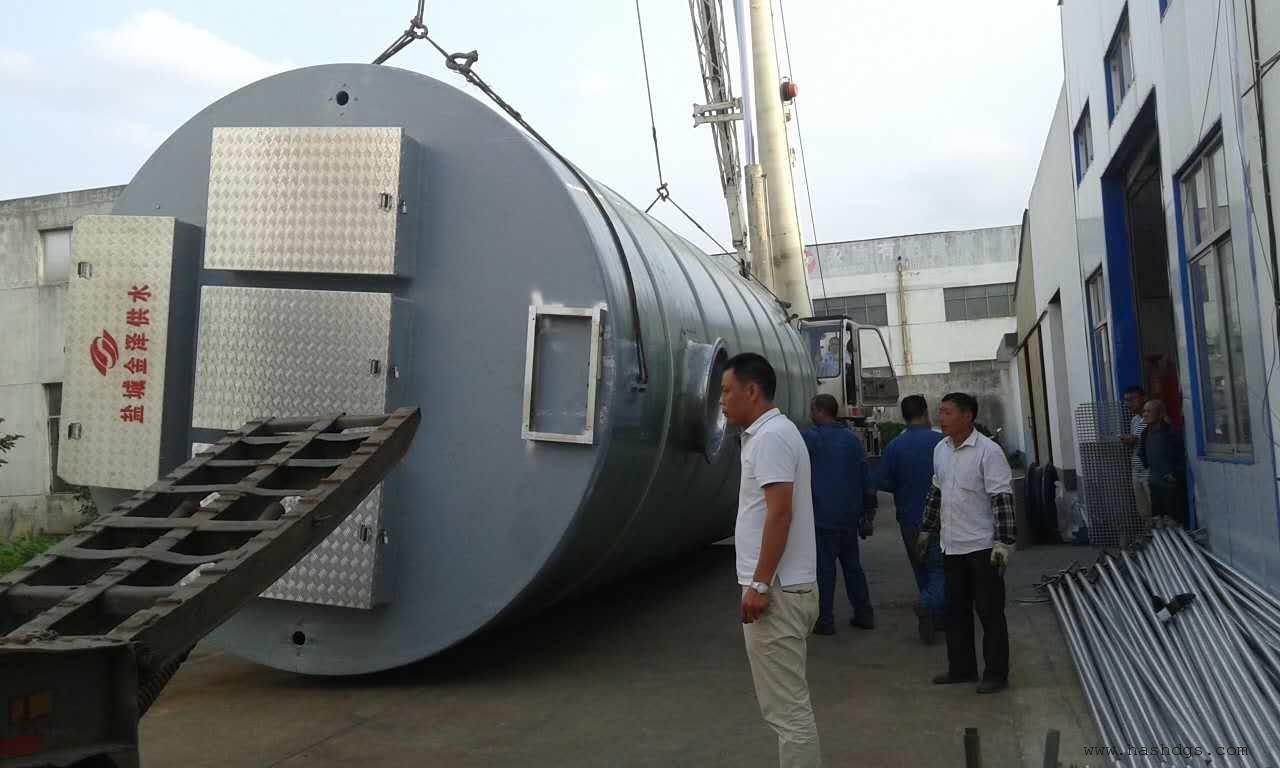 解决污水流量处理预制泵站杂物提升系统