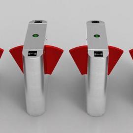 厂家供应人行通道闸LC301翼闸支持刷卡指纹识别人脸识别开闸