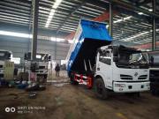 东风8方污泥自卸车尺寸/内衬不锈钢8吨污泥自卸车价格