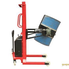 半自动油桶车 油桶叉车 手推电升电动翻转式油桶倒料车