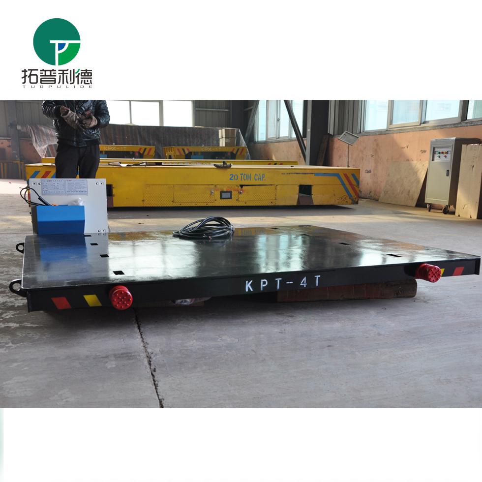 KPT-5T小型电动平板车 短距离超低台面轨道过跨平板车