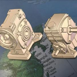TKVWE155-300AL 台湾GONGJI工机减速机 涡轮蜗杆减速机