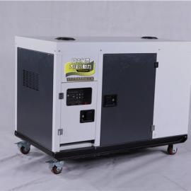 车载使用10千瓦静音柴油发电机220v