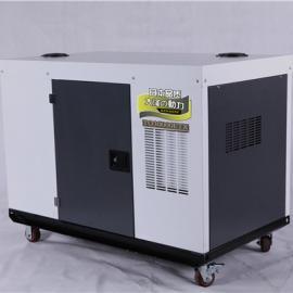 380v工业15KW静音柴油发电机一天油耗