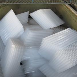 沉淀池用斜管填料厂家////80孔径蜂窝斜管填料价格