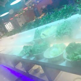 超市蔬菜架喷雾加湿机器