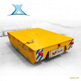 重型平板车集装搬运无轨车间平板电瓶车防爆电动导轨小车