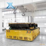 加工玻璃的生产电动转运平板车45吨无轨重型台车