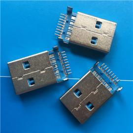 3.0 A公沉板USB 3.0沉板贴片SMT贴板9P蓝色胶芯 3.0公头 插头