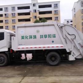 配合垃圾桶翻转10吨密闭式压缩垃圾车价格