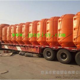 河南PE聚乙烯塑料夹管浮筒批发 直径450夹管滚塑浮筒价格