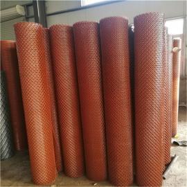 南通80-100刀喷红漆钢板网卷网&圈地养殖钢板网20米一卷