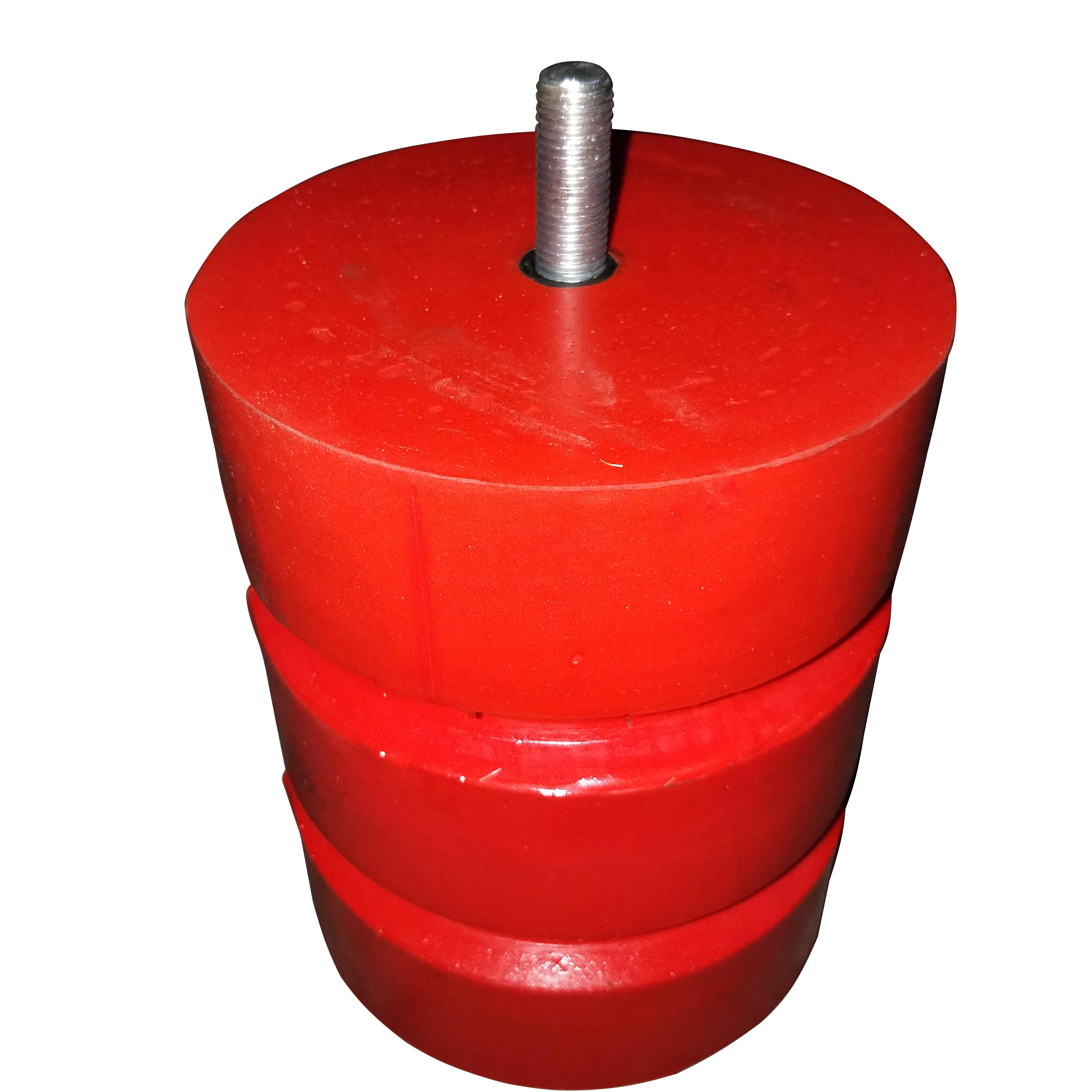 法兰盘式起重机缓冲器 电梯碰头 JHQ-C-25聚氨酯缓冲器