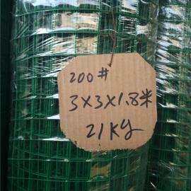 1.2米高养殖用绿色铁丝网-3cm孔浸塑电焊网多重规格尺寸