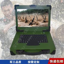 15寸上翻便携式工业便携机机箱定制防水键盘加固笔记本军工电脑