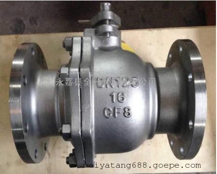 高性能CF8不锈钢球阀Q41F-16P-DN125