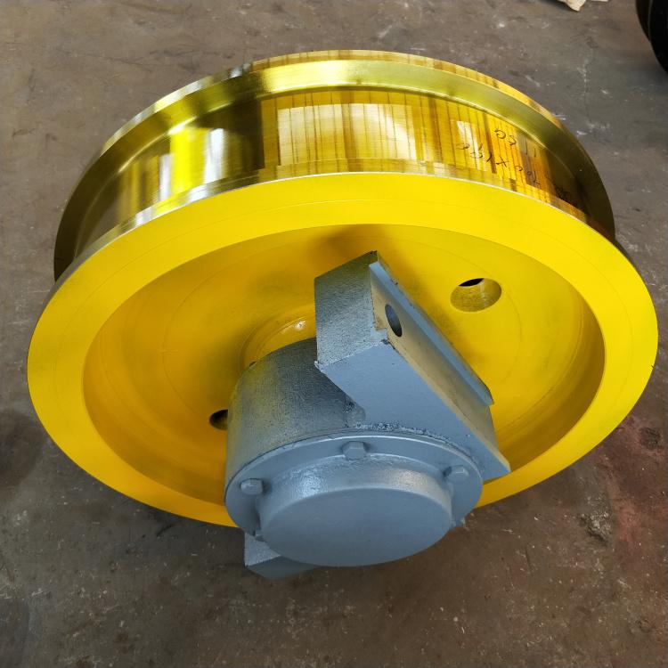 焦作博爱材料行车轮 起重机行走载重车轮 装卸方便轮子