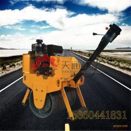 手扶式重型单轮压路机机身小适合台背回填手扶柴油压路机