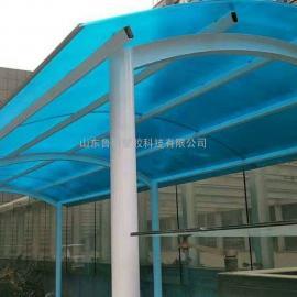 淄博车棚阳光板每平米价格,蓝色阳光板厂家